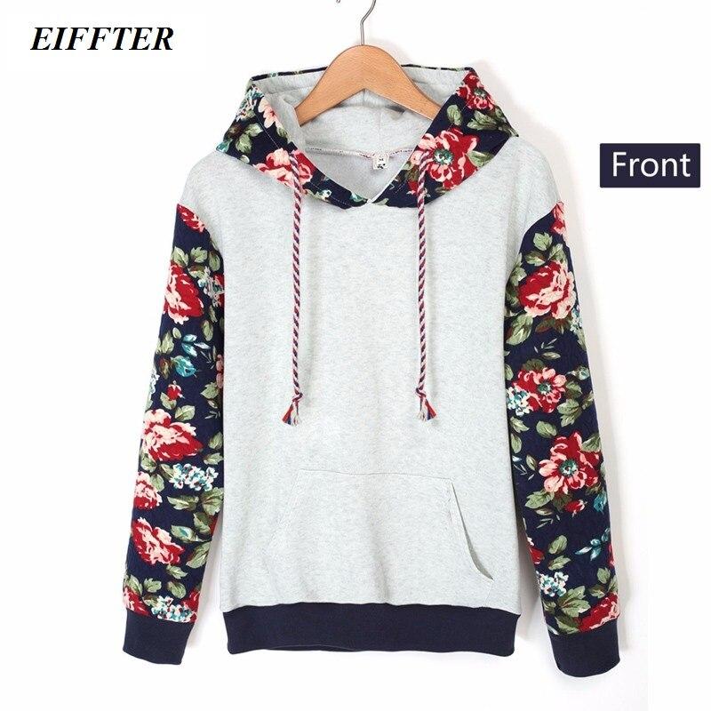 EIFFTER 2016 Autumn Winter font b Women b font Casual Thick Warm font b Floral b
