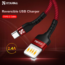 Coolreall 2.4A Reversible USB Type C Cable for huawei honor Xiaomi Redmi mi9 Fast Charging Samsung date cable