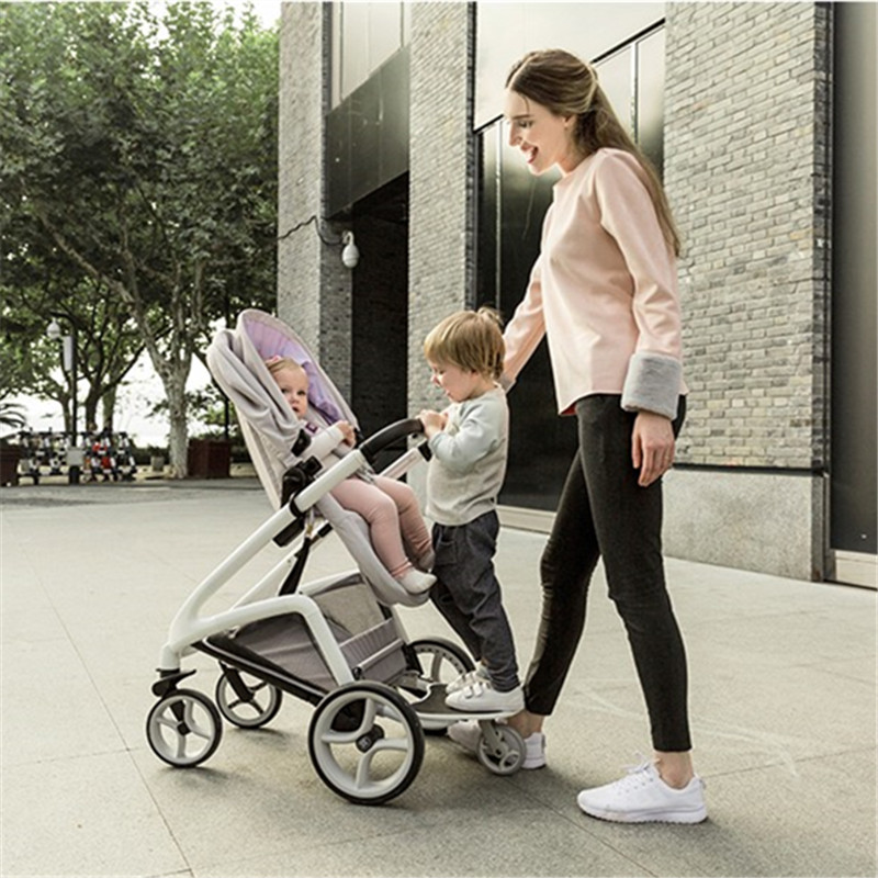 Luxury Baby Stroller 2 in 1 High Land-Scape Pram Portable Baby Carriages For Newborns Kinderwagen Baby Car все цены