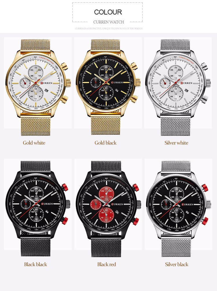HTB1R17wylmWBuNkSndVq6AsApXaz Fashion Watch men Luxury top brand steel men watch waterproof Wristwatch Men Clock quartz watch gold sports casual CURREN 8227