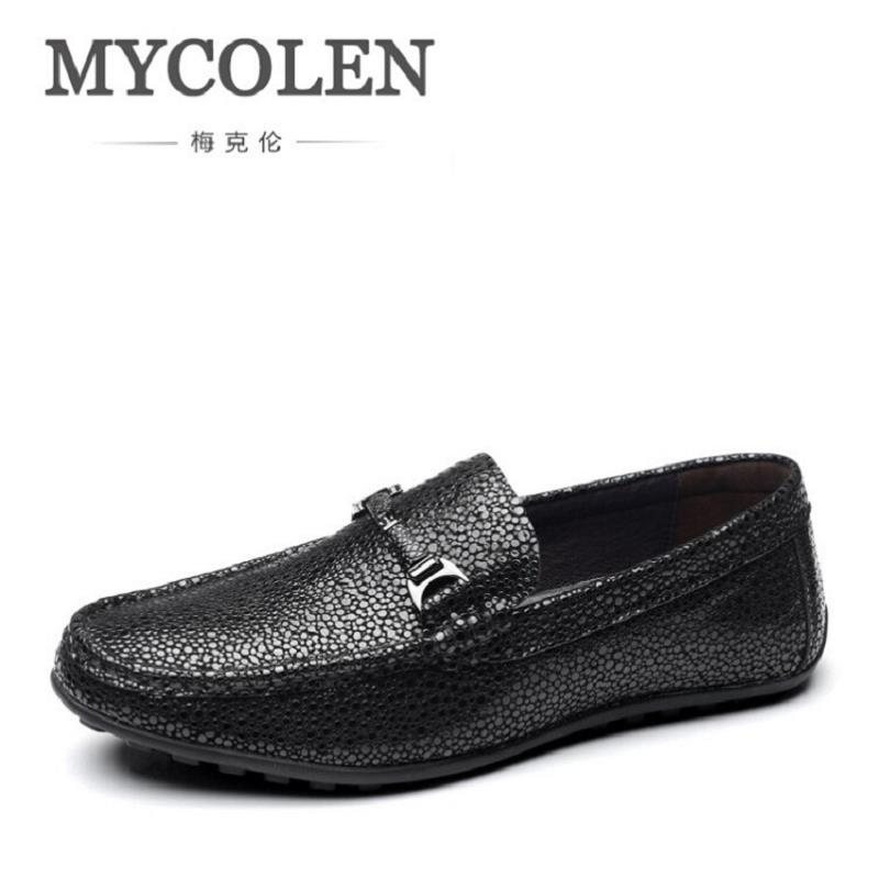MYCOLEN Crocodile Leather Men's Driving Shoes Comfortable Slip On Loafers For Mens Casual Shoes Moccasins Business Formal Shoes new men s octopus leather penny loafers crocodile slip on driving shoes mens casual shoes moccasins business boat shoes branded