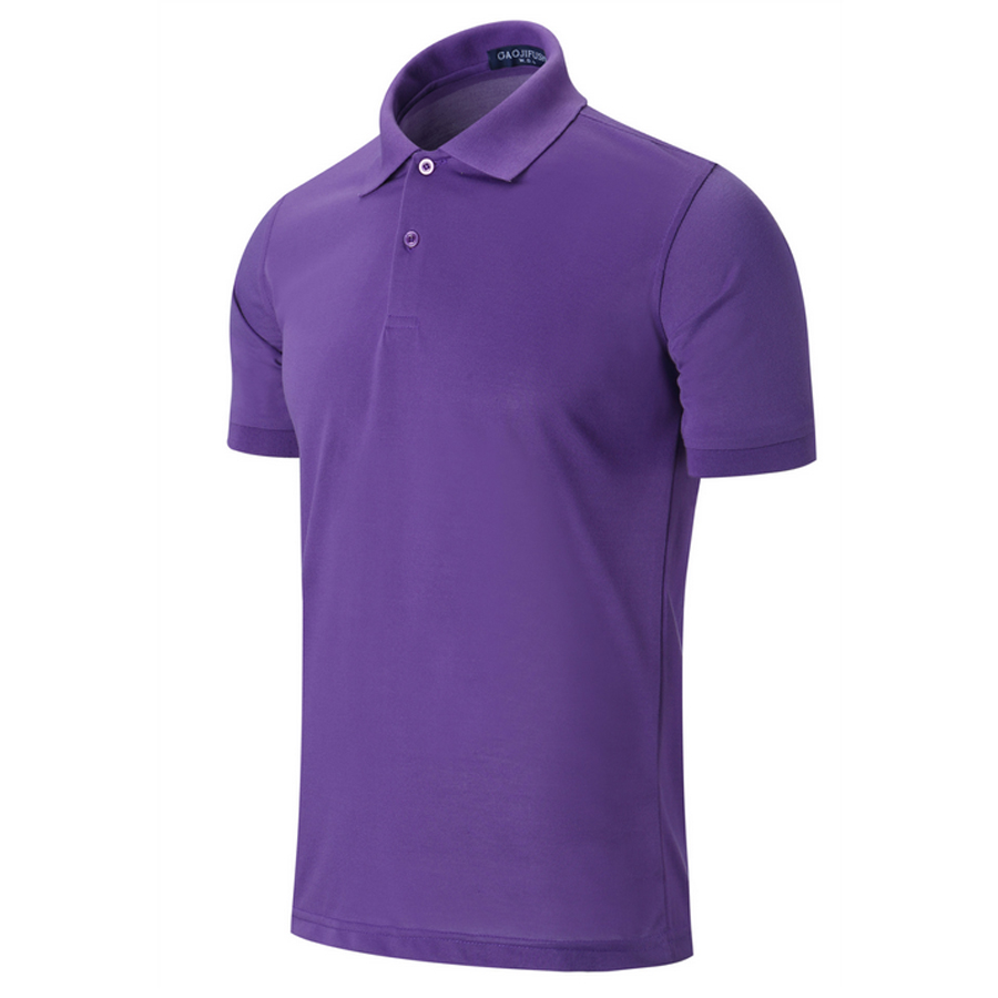Short Sleeve Mens Polo Shirts Button Slim Fit Summer Casual Camisas Polo Men Brand Black White Red Purple Size XXXL