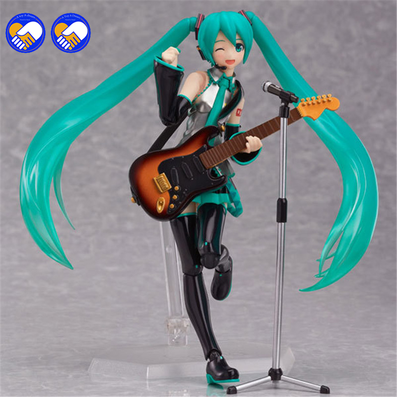 A toy A dream New hot sale anime figure toy figma 200 Hatsune Miku Collection 14CM gift for children free shipping hot sale hatsune miku figure 24cmpvc tetsuya nomura comic figure animation periphery cute girl model freeshipping