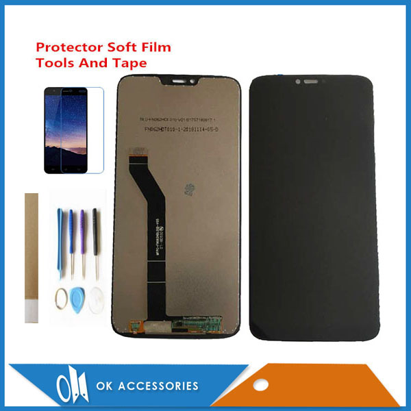 100% Test 6.2 Inch For Motorola Moto G7 Power LCD Display With Touch Screen Digitizer Glass Black Color With Kits