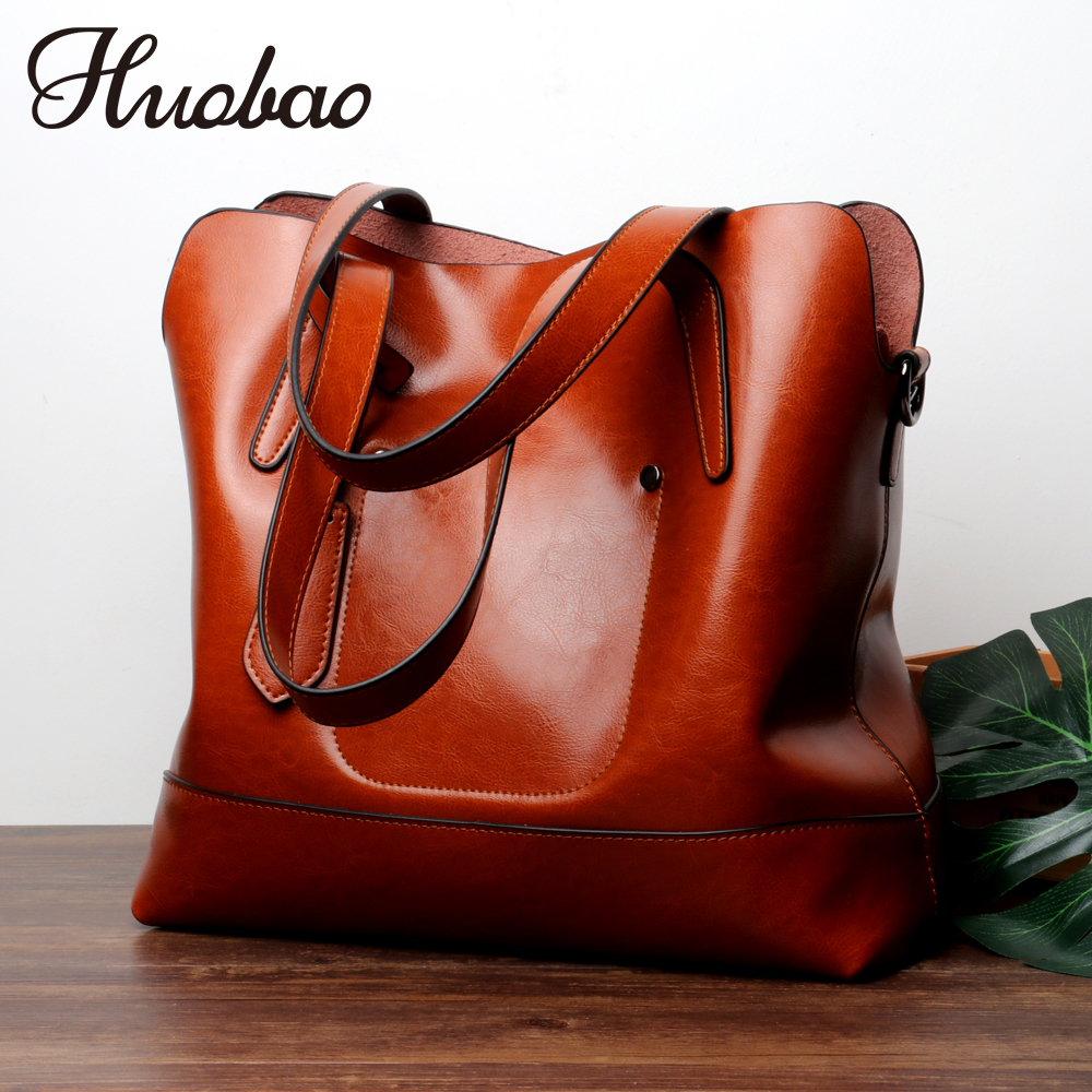 2018 New Genuine Leather bag Large Women Handbags Brand Designer Vintage Women Messenger Bags Ladies Shoulder Crossbody Bag Tote