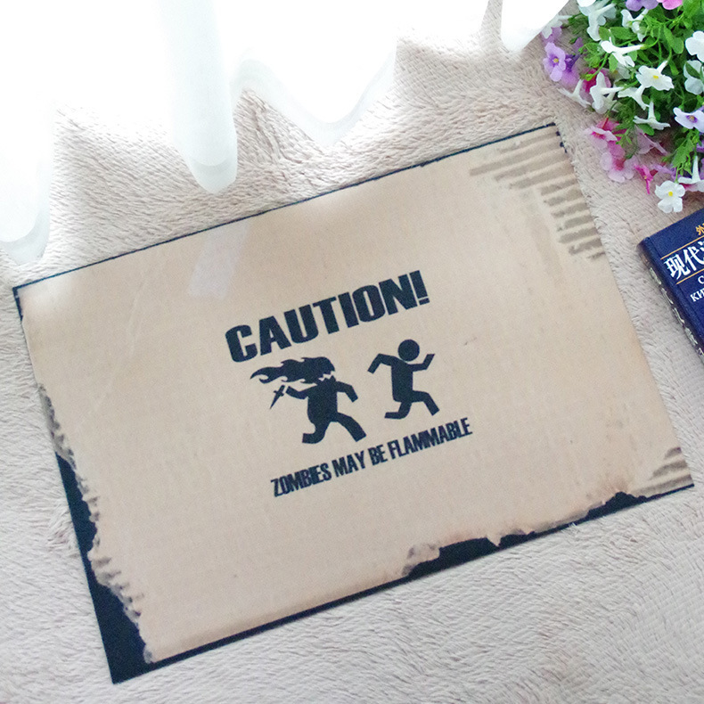 Online Shop Caution Carpet Inflammable Zombie Mat Tapetes De Cozinha Door Stepping Pad Fabrics Kid Room Hallway Vloerkleed Babykamer Teppich | Aliexpress . : door stepping - Pezcame.Com