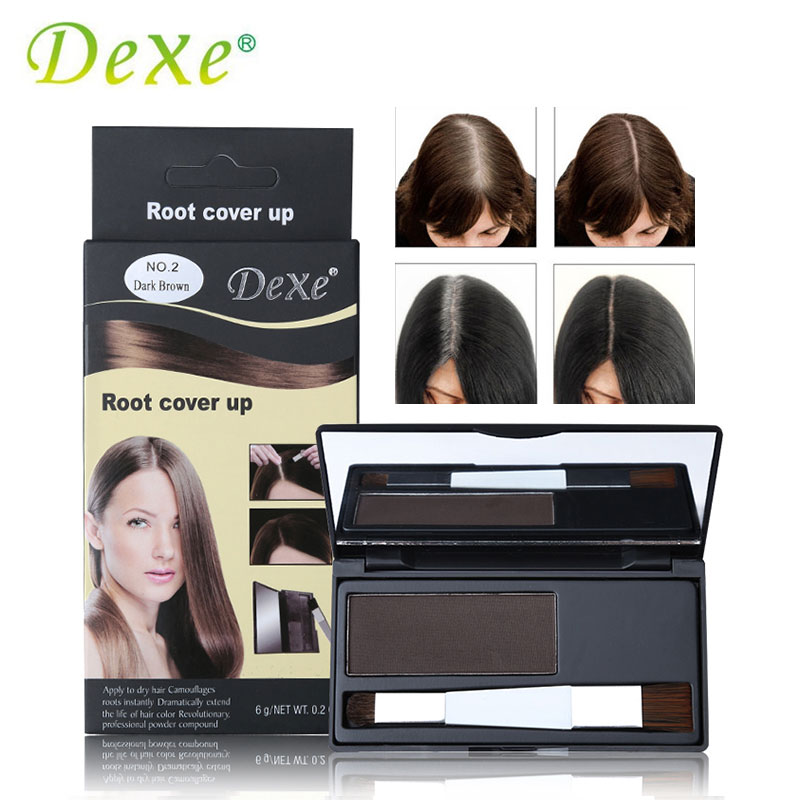 DEXE Brand Hair Coloring Products Cover Gray Root Cover Up Powder Black Hair Color Brush Dye Temporary Hair Dye Coloring Cream