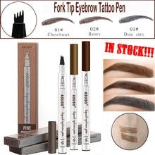 Hot Sale Microblading Eyebrow Tattoo Pen Waterproof Eye Makeup 3 Colors Easy Use Eyebrow Pen Deep Color Pencil Eyebrow
