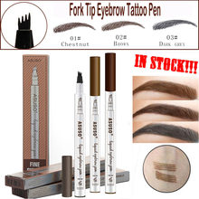 Hot Sale Microblading Eyebrow Tattoo Pen Waterproof Eye Makeup 3 Colors Easy Use Eyebrow Pen Deep Color Pencil Eyebrow(China)