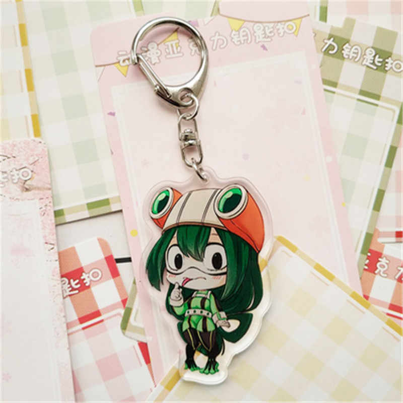 Dos Desenhos Animados Anime Boku nenhuma Academia academia Minha hero hero Denki Kaminari Acrílico Chaveiro Chaveiro Halloween Cosplay Presente Keychain