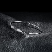 Minimalist Crown Sterling Silver Bangle For Women