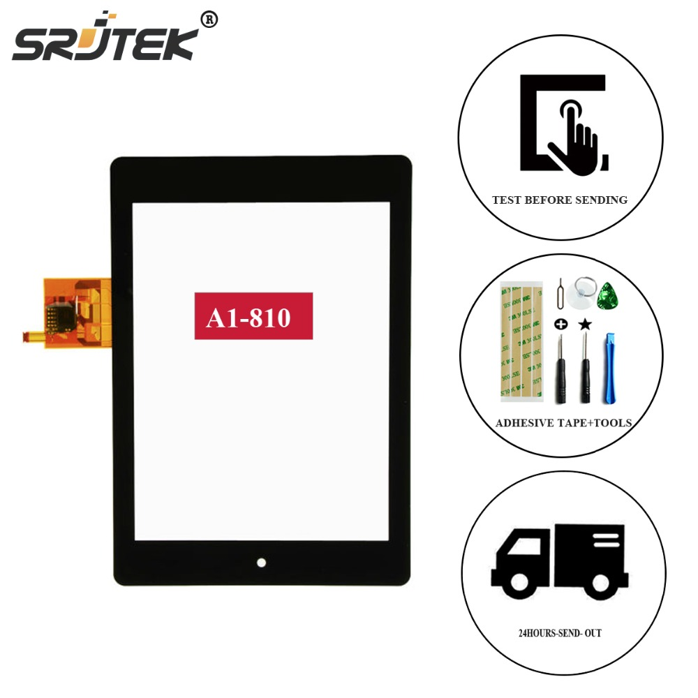 Srjtek For Acer Iconia Tab A1 A1-810 A1-811 A1 810 Touch Screen Digitizer Sensor Replacement Touchscreen