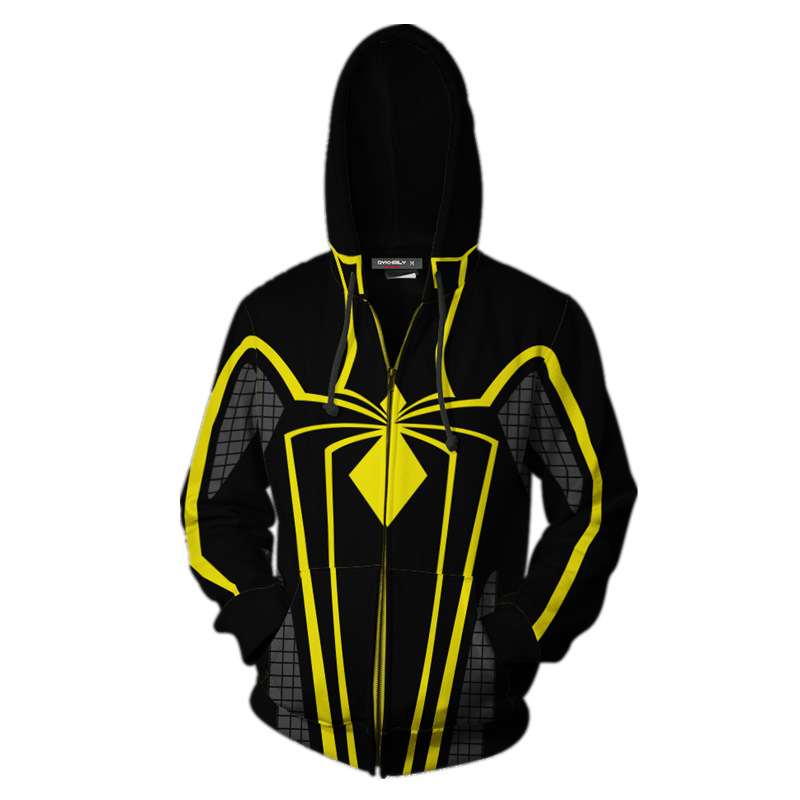 2018 Herbst Winter Spinne Mann RÜstung Mkii Zip Up Hoodie Mann Hoodies Sweatshirts Superhero Cosplay Mit Kapuze Mäntel Zipper Jacke