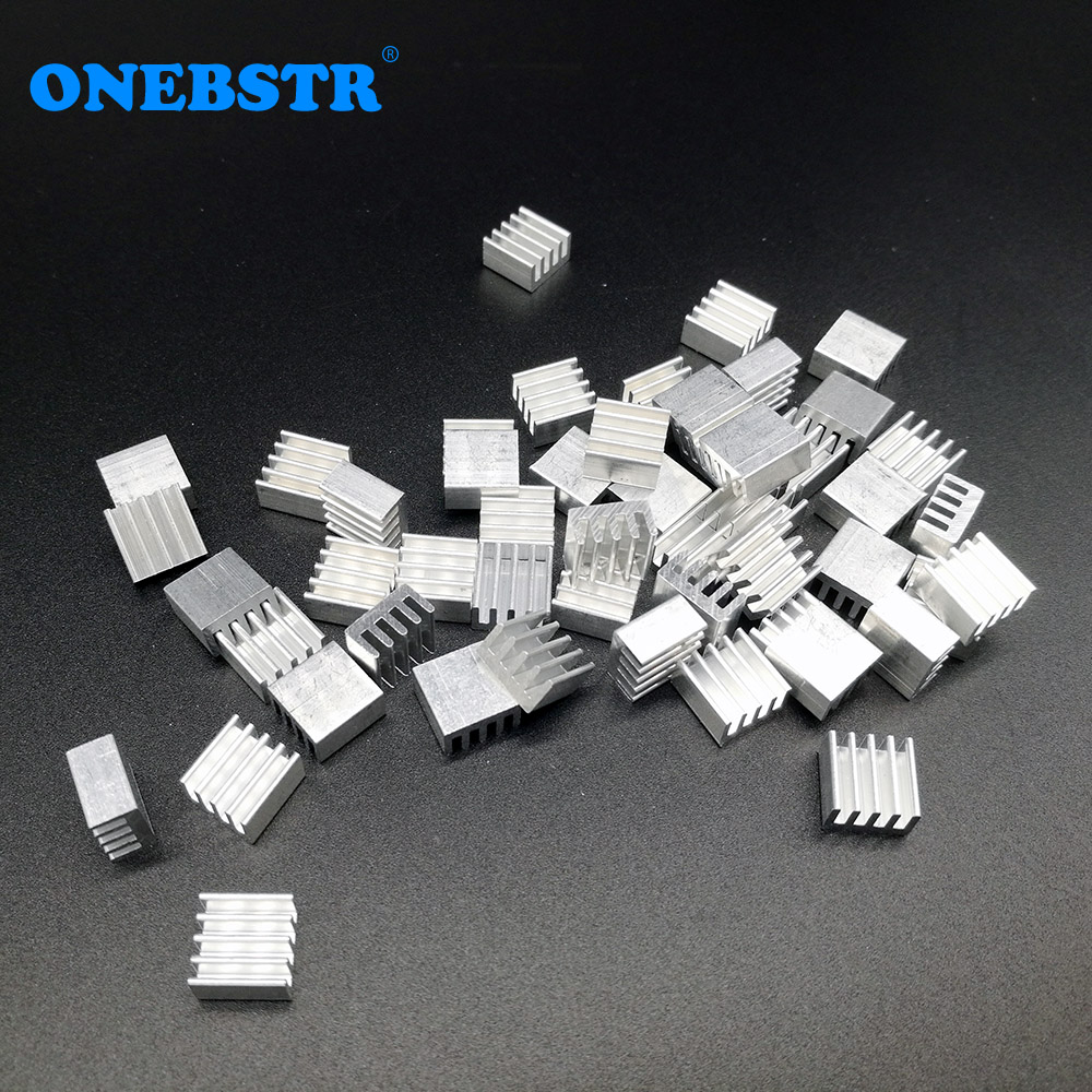 50Pcs Aluminum Extruded heatsink 8.8 * 8.8 * 5mm Electronic chip cooling radiator cooler for A4988 chip 50pcs lot aluminum heatsink 8 8x8 8x5mm electronic chip cooling radiator cooler for cpu ram gpu a4988 chipset heat sink