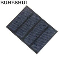 BUHESHUI 12 В 1,5 Вт стандартные эпоксидные солнечные панели поликристаллического кремния DIY батарея заряд энергии модуль 115x85 мм Мини Солнечная батарея