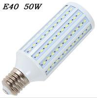 High brightness 50W LED bulb E40 LED Light 165 LEDs 5730 SMD LED Corn Lamp AC110/220V Warm White Cool White free shipping