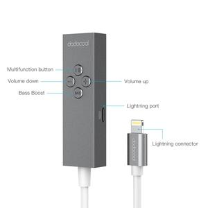 Image 2 - dodocool Hi Res Certified USB Type C/MFI Lighting to 3.5mm Earphone Headphone Cable Adapter 3.5mm Jack Aux Cable In line Remot
