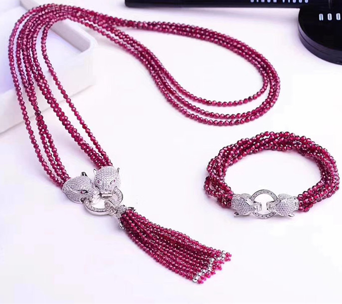 3rows garnet red  round faceted  3mm tassel necklace  bracelet  7.5inch FPPJ  FPPJ 35inch wholesale 3rows garnet red  round faceted  3mm tassel necklace  bracelet  7.5inch FPPJ  FPPJ 35inch wholesale