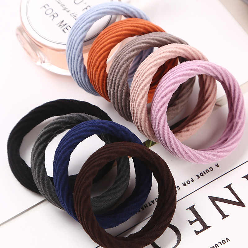 10 Hair Rope New High Resilience Seamless Rubber Band Hair Accessories Girls Women Ponytail Elastic Hair Bands Hot Sale