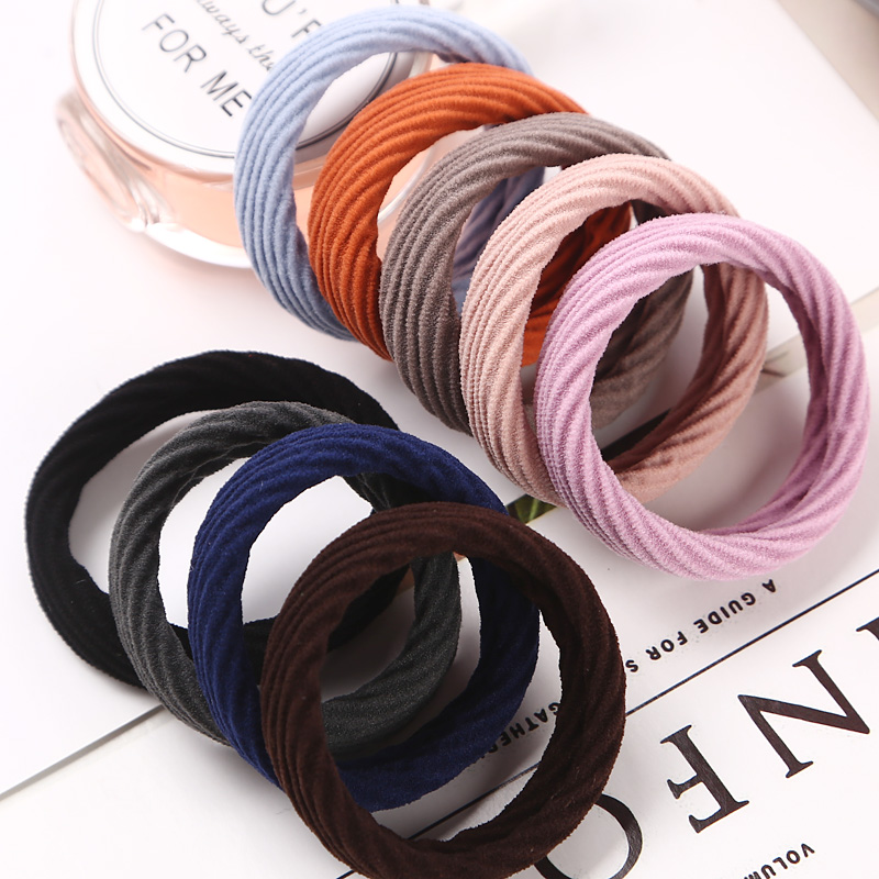 10 PCS Hair Rope New High Resilience Seamless Rubber Band Hair Accessories Girls Women Ponytail Elastic Hair Bands Hot Sale