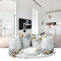 5pcs Fashion Bathroom Supplies Resin Bathroom Set Of Five Pieces Bathroom Set Bath Tubs