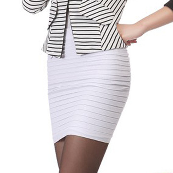 Cheapest Free Shipping New Fashion 2019 Summer Women Skirt High Waist Candy Color Plus Size Elastic Pleated Sexy Short Skirt 8