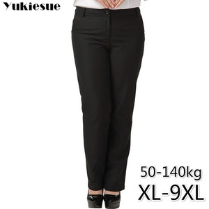 Image 1 - OL office womens pants for women pantalon femme streetwear with high waist formal  suit pants Plus size 9XL female trousers