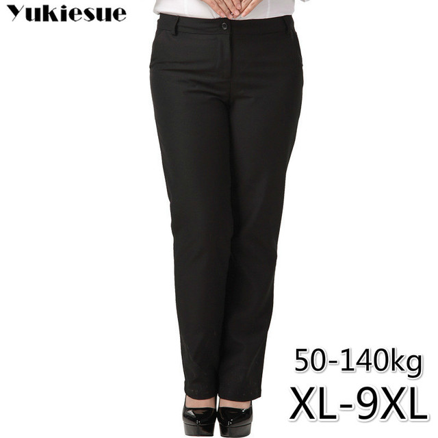 OL office womens pants for women pantalon femme streetwear with high waist formal  suit pants Plus size 9XL female trousers
