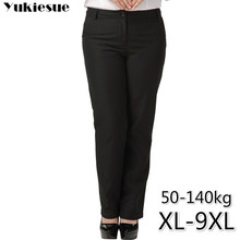 OL משרד נשים של מכנסיים לנשים pantalon femme streetwear עם גבוהה מותן פורמליות חליפת מכנסיים בתוספת גודל 9XL נשי מכנסיים