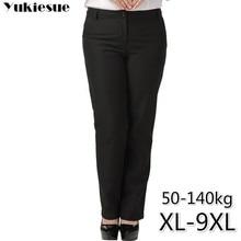 Ufficio OL delle donne pantaloni per le donne pantalon femme streetwear con vita alta formale pantaloni tuta Più Il formato 9XL femminile pantaloni