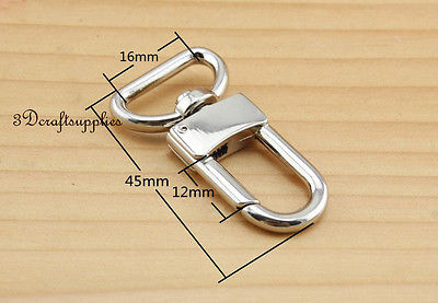 Lobster Clasps Clips Claw purse hooks Swivel snap hook silver 16 mm 10pcs P35 owner 52567 16 hooked snap swivel 9 шт
