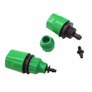 """Image 4 - 2 adet hızlı bağlantı adaptörü damla şeridi için sulama hortumu konnektörü ile 1/4 """"dikenli konnektör bahçe sulama bahçe aletleri"""