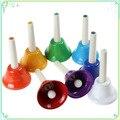 8 шт./компл. Красочный Музыкальный Instrment Колокольчики дети toys Set 8-Note Металлические Колокольчики Toys для Детей Ребенка Раннего Образования