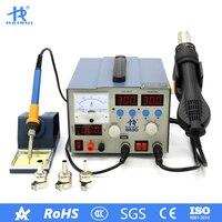 HAIRUI 863D 3 in 1 Digital Heißluft Löten Eisen 2A USB Power Liefern Rework Station für Mobile Reparatur-in Lötstationen aus Werkzeug bei
