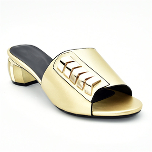 Image 4 - New Arrival Designer Shoes Women Luxury 2019 Nigerian Women Wedding Shoes Decorated with Rhinestone Ladies Sandals with Heels
