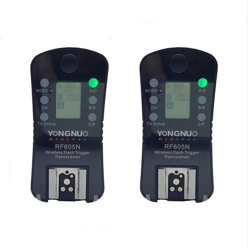 YONGNUO RF 605 RF 605N RF605N Wireless Flash Trigger for Nikon D7100 D7000 D5200 D5100 D3000