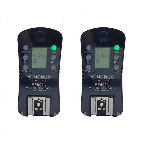 YONGNUO RF-605 RF-605N RF605N Wireless Flash Trigger for Nikon D7100 D7000 D5200 D5100 D3000 D90 D80 D70 D70s D40 D800E D800 дистанционный спуск затвора для фотокамеры pixco lcd nikon d70s d80 trs01
