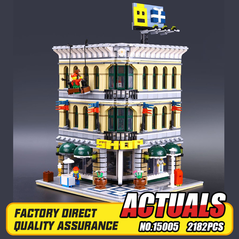 ФОТО LEPIN 15005 Presale 2182pcs City Creator Grand Emporium Model Building Blocks Kits Brick Toy Compatible Educational toys 10211