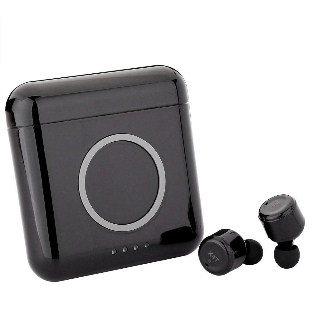 X4T нажатием кнопки Bluetooth наушники Беспроводной С микрофоном мини-гарнитуры Спорт зарядки Коробки elari для air pod PK X2T X1T X3T