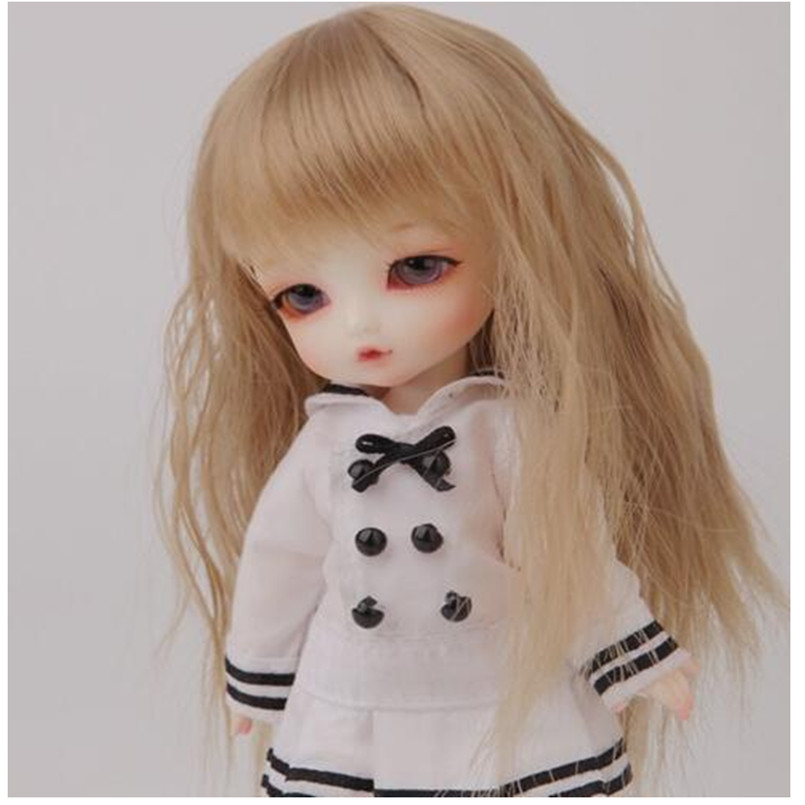 BEIOUFENG 1/8 Bjd Sd Doll Wigs for Dolls High Temperature Wire Long Curly Wigs Synthetic Doll Hair for Dolls Accessories
