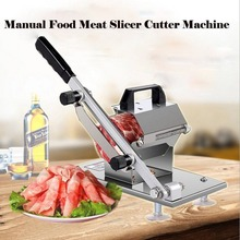Manual Frozen Food Meat Slicer Beef Mutton Sheet Roll Cleavers Cutter Adjustable Vegetable Fruit Rice Cake