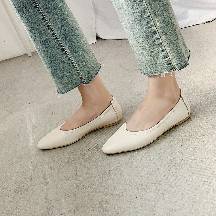 Salu Women Pumps Fashion Women Shoes low Heel Genuine Leather Sexy Casual Shoes Ladies Pumps Size 34 43-in Women's Pumps from Shoes    2