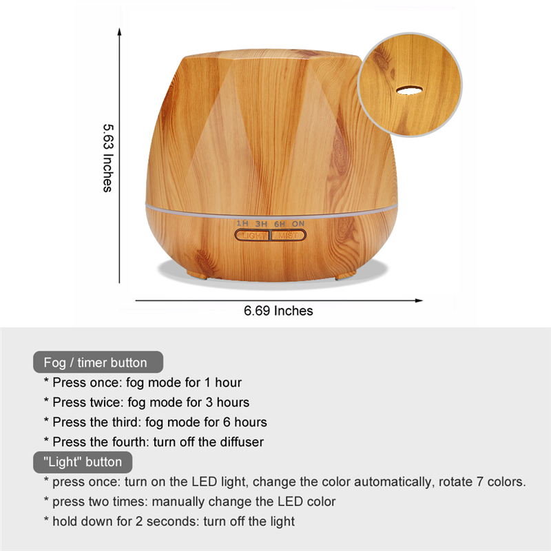 Image 3 - Diffuserlove 500ML Remote Control Electric Aroma Air Diffuser Ultrasonic Air Humidifier Essential Oil Aromatherapy Cool Mist Mak-in Humidifiers from Home Appliances