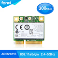 Atheros AR9832 AR5BHB116 Dual band Wireless 300 Mbps Wi-fi Metade Mini PCI-E Card 2.4 GHz 5 Ghz Laptop Placa de Rede Sem Fios Adaptador de rede