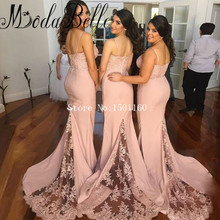 Dusty Pink Bridesmaid Dresses Spaghetti Straps Top Lace Long Wedding Guest Dress Floor Length Bridesmaid Dresses Custom Made