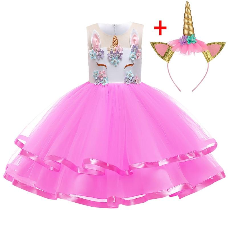 HTB1R1B8KzTpK1RjSZKPq6y3UpXaq Unicorn Dresses For Elsa Costume Carnival Christmas Kids Dresses For Girls Birthday Princess Dress Children Party Dress fantasia