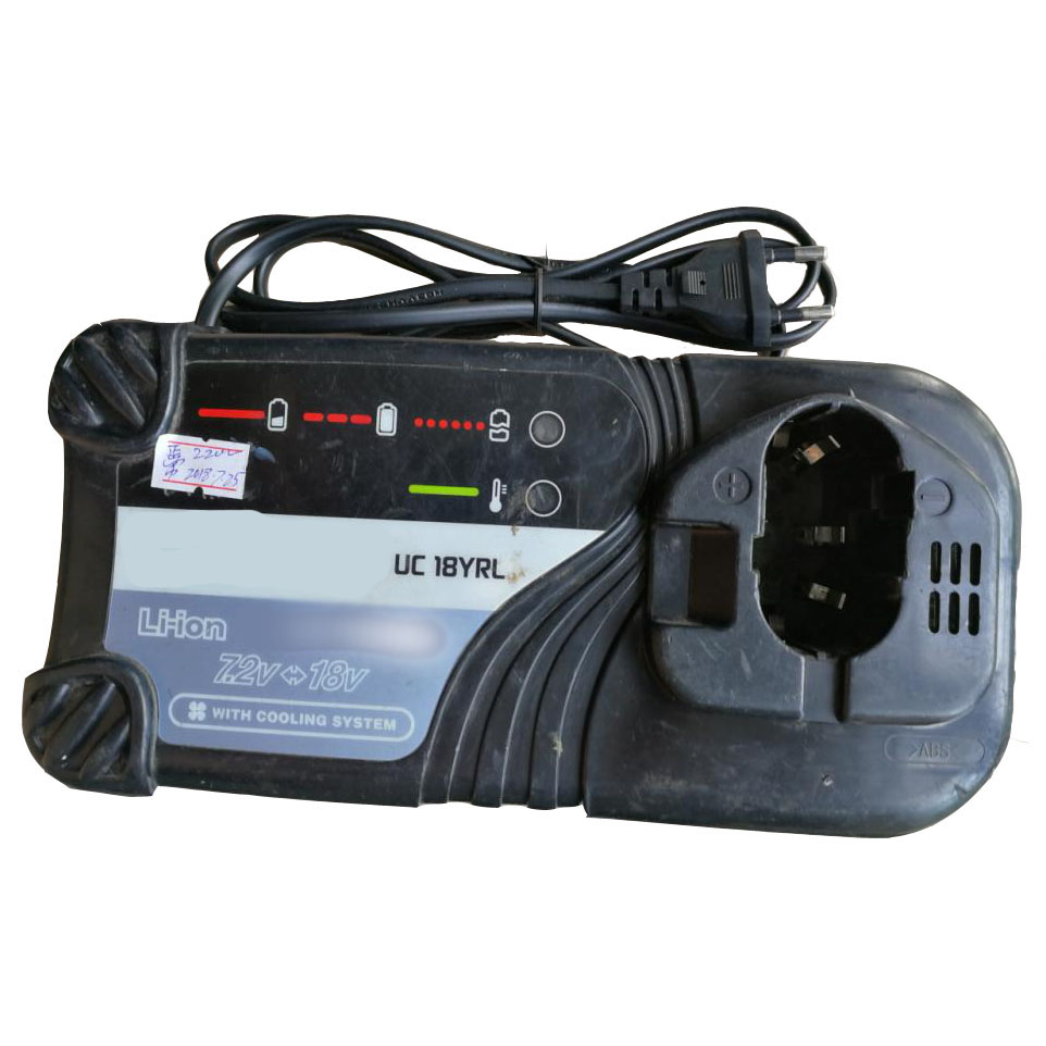 UC18YRL Used Reconditioned Li-ion Battery Charger For Hitachi 7.2V - 18V Serise Electric Drill Screwdriver Accessory ac220 240v charger uc18yksl replace for hitachi 14 4v 18v li ion battery uc18yrsl bsl1415 bsl1420 bsl1440 bsl1450 uc18ygsl