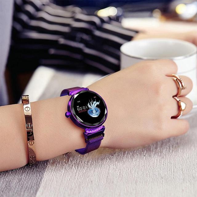LEMFO H2 Women Smart Watch IP67 Waterproof Heart Rate Blood Pressure Monitor Fashion Smartwatch Women