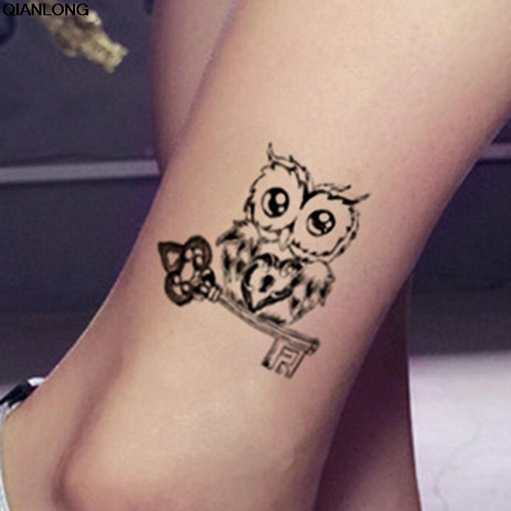 Us 028 5 Offw Stylu Vintage Czarny Sowa Ramię Fałszywy Tatuaż Sexy Tymczasowe Tatuaże Naklejki Wo Body Art W Tymczasowe Tatuaże Od Uroda I Zdrowie