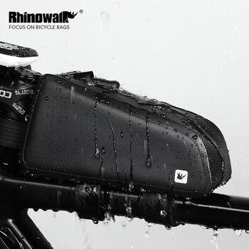 Rhinowalk велосипедная Сумка водонепроницаемая велосипедная верхняя передняя Труба рама сумка большая емкость MTB Дорожная велосипедная корзин...